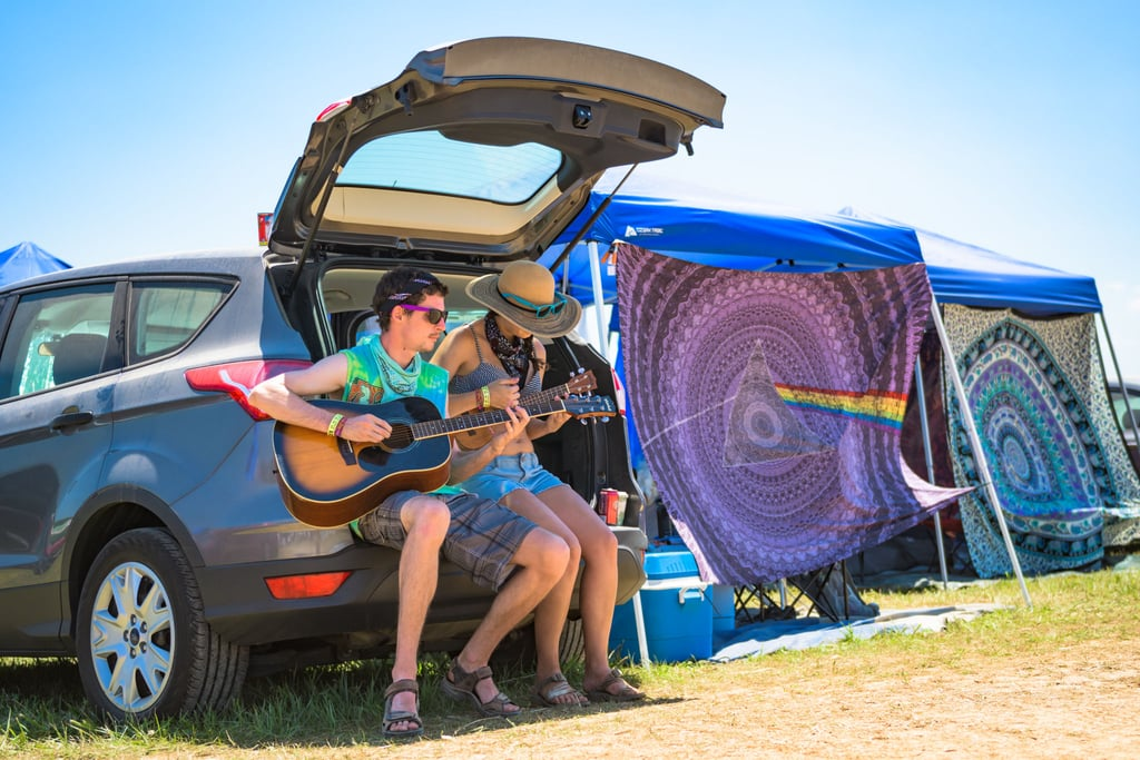 Two of many happy car campers in 2016.