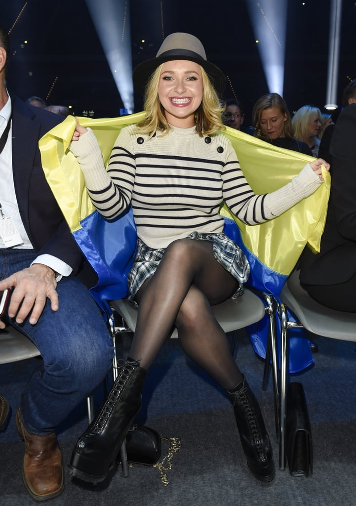 """Hayden Panettiere was on hand to support her fiancé, Wladimir Klitschko, during his boxing match against Tyson Fury in Germany on Saturday. The Nashville star was all smiles as she attentively watched the match from the sidelines. The exciting event marks Hayden's first public appearance since she entered treatment for postpartum depression in October, just 10 months after she gave birth to her daughter, Kaya Klitschko. A rep for Hayden confirmed the news to People, saying that she was """"voluntarily seeking professional help at a treatment center as she is currently battling postpartum depression."""" Read on to see more of Hayden's latest photos."""