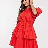 PrettyLittleThing Puff-Sleeve Dress