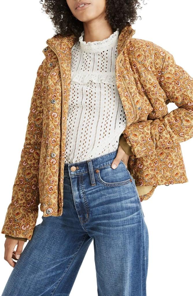 Madewell Corduroy Puffer Jacket