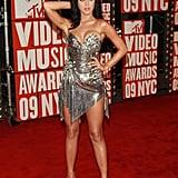 She posed at the September 2009 MTV Music Awards at NYC's Radio City Music Hall.