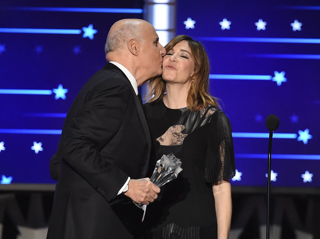 Kisses at the Critics' Choice Awards 2016