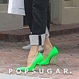 Victoria Beckham's Neon Green Heels