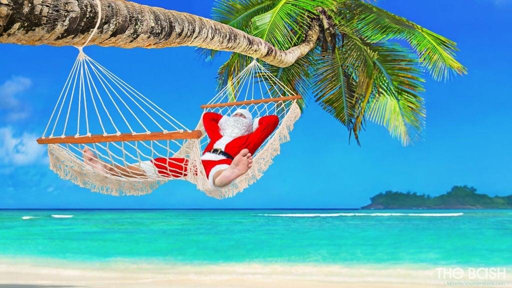 Vacation Santa Zoom Background