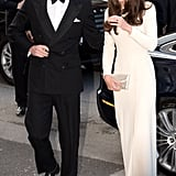 Prince William and Kate Middleton arrived at Claridge's in London together for a date night out.