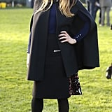 Melanie Chisholm was spotted at the Hennessy Gold Cup race meeting in Newbury.