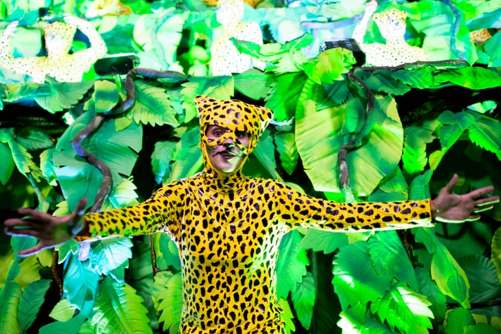 A woman dressed as a wild cat took to Rio's streets.