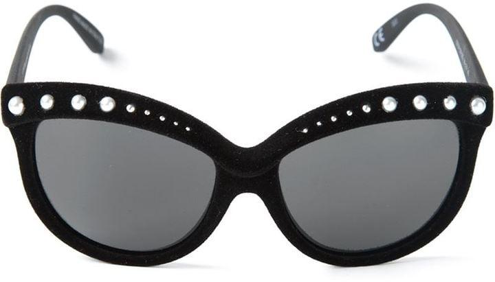 Italia Independent Embellished Velvet Frame Sunglasses ($165)