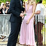 Bradley Cooper and Suki Waterhouse laughed together at the annual Serpentine Gallery Summer Party on Tuesday in London's Hyde Park.