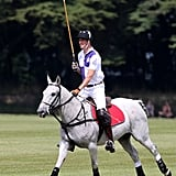 Prince William played polo on Sunday.