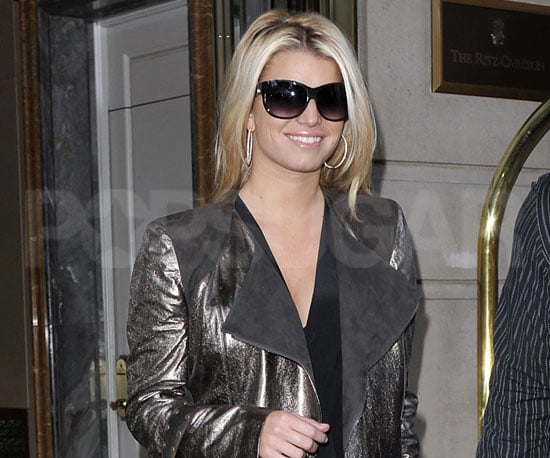 Slide Photo of Jessica Simpson Leaving the Ritz