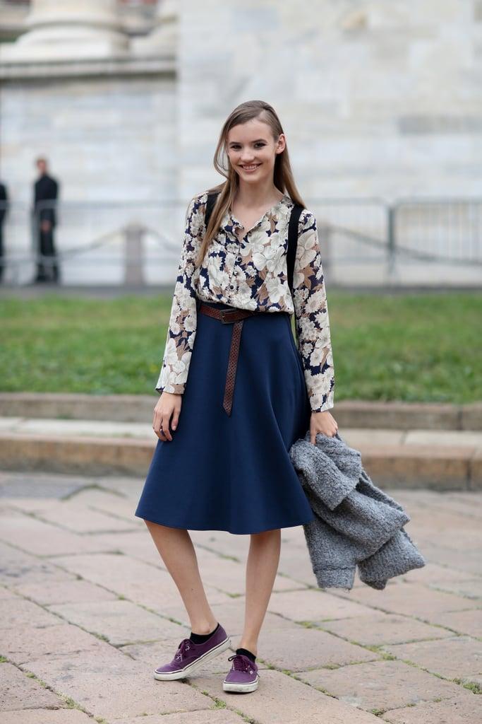 Milan Fashion Week Model Street Style At Fashion Week Spring 2015 Popsugar Fashion Photo 99