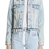 Off-White Crop Denim Jacket