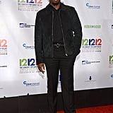 Diddy wore all black to the event.