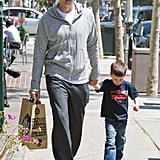 Tom Brady and Jack Moynahan made a Whole Foods run in Brentwood.