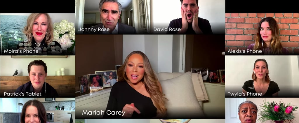 "Watch the Schitt's Creek Cast Sing ""Hero"" With Mariah Carey"