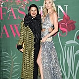 Veronica Etro and Elsa Hosk at The Green Carpet Fashion Awards 2019