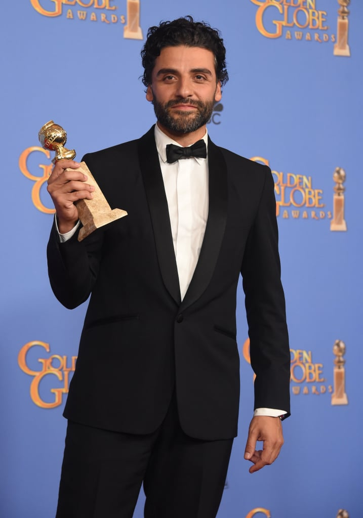 Oscar Isaac at Golden Globes 2016