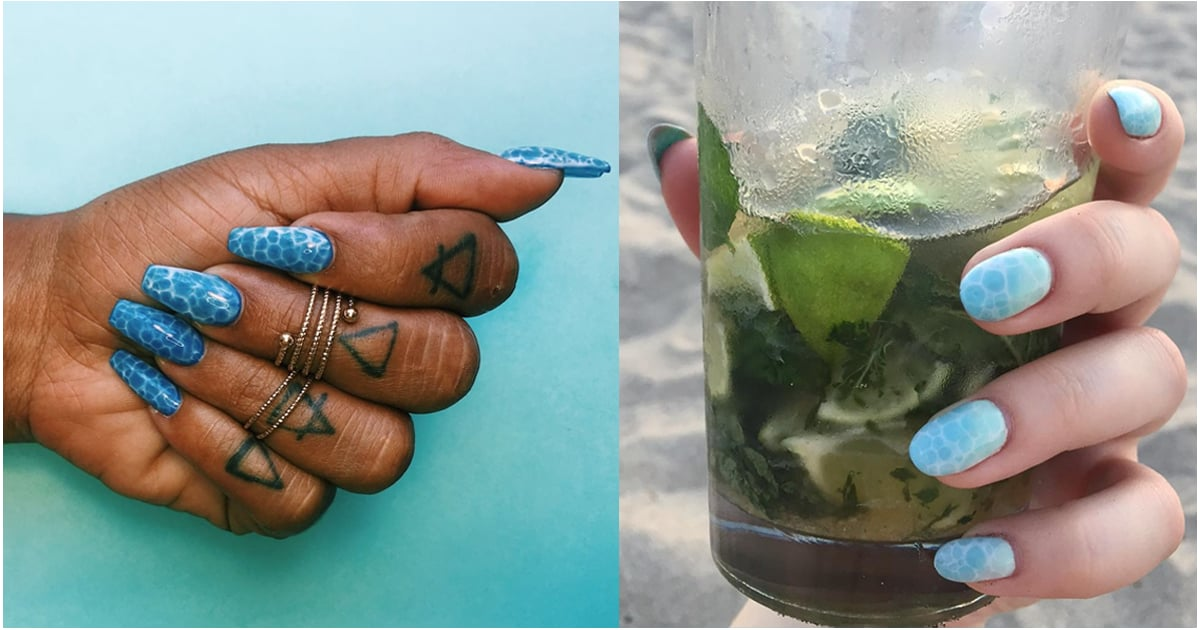This Water Nail Trend Is Making Waves This Summer