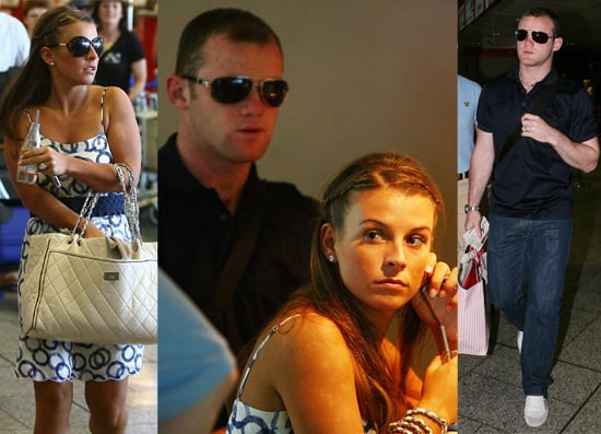 Wayne Rooney And His Bride Coleen Pictured At An Italian Airport Following Their Wedding