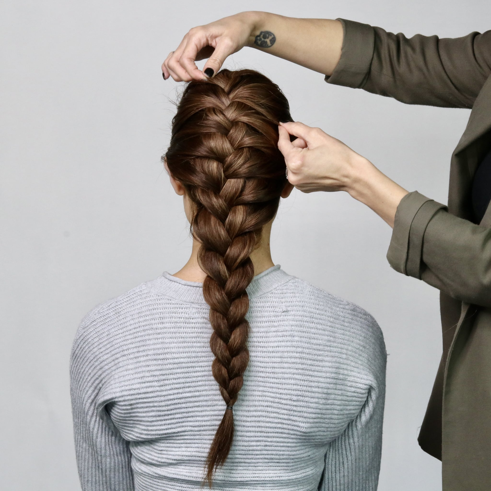 How To French Braid Your Hair Step By Step Tutorial Popsugar Beauty