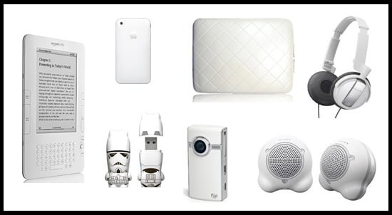 Technicolor Toys: White Gadgets and Accessories