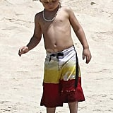 Zuma Rossdale on the beach in Cabo.