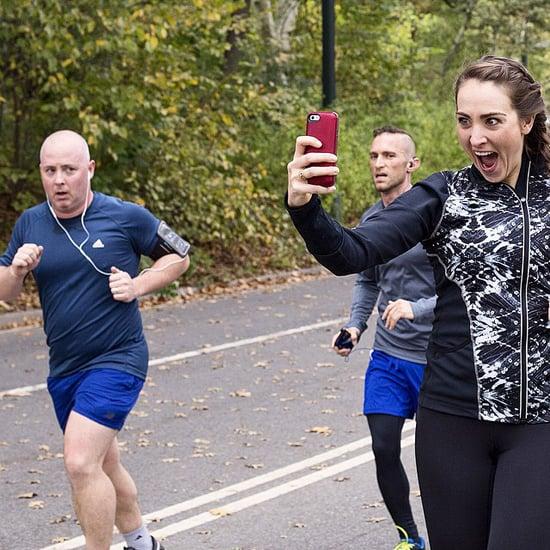 Woman Takes Selfies During NYC Marathon
