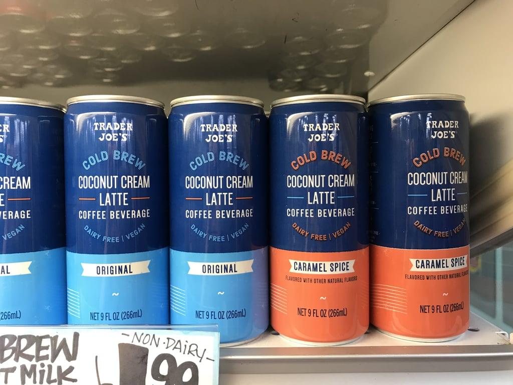 Trader Joe's Cold Brew Coconut Cream Latte Coffee Beverage
