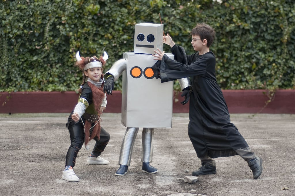 diy cardboard box halloween costumes popsugar moms - Halloween Box Costumes