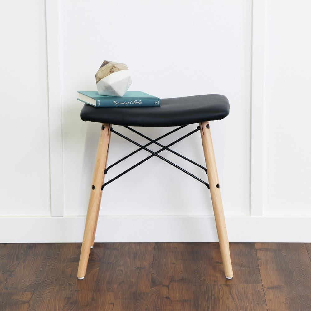 Faux-Leather Stool