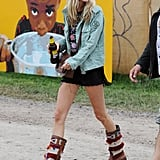 Poppy Delevingne was spotted on the grounds.