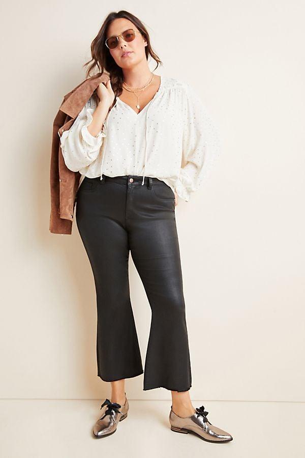 DL1961 x Marianna Hewitt Bridget High-Rise Cropped Flare Jeans