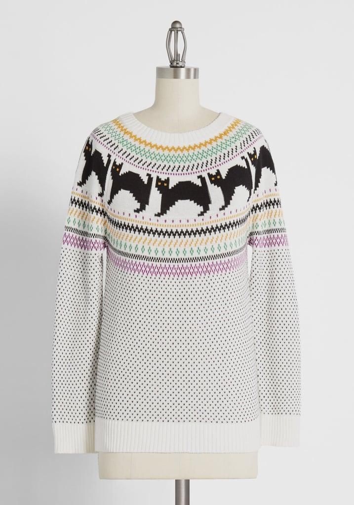 Scaredy Cat Fair Isle Sweater