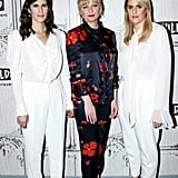 She posed with Rodarte designers Kate and Laura Mulleavy at an event on Sept. 13 to discuss their new film, Woodshock.