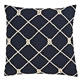 Madeline: Saro Lifestyle Knotted Rope Throw Pillow
