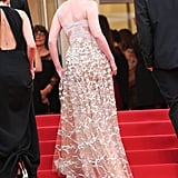 Kirsten Dunst's Chopard Earrings Glimmered From Afar as She Climbed the Stairs in Valentino