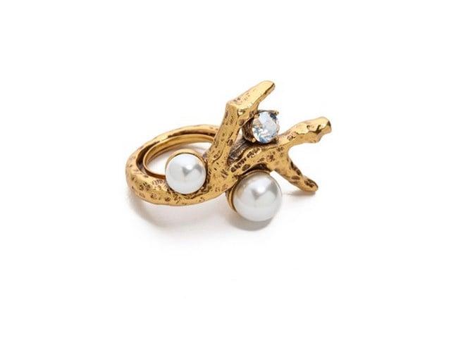 Oscar de la Renta Faux Coral Ring ($190)