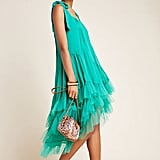 Cynthia Rowley Tiered Tulle Maxi Dress