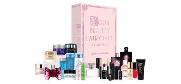 Boots (£85) Your beauty fairy tale come true is Boots' new beauty calendar, 24 doors filled with brands such as Lancome, Yves Saint Laurent, and Viktor & Rolf.