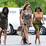 Kim met up with Khloé, Malika Haqq, and Jonathan Cheban in New York on Tuesday.