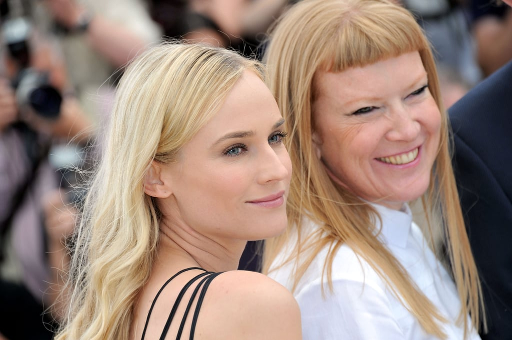Diane Kruger struck a pose with Andrea Arnold for the jury photocall in Cannes.