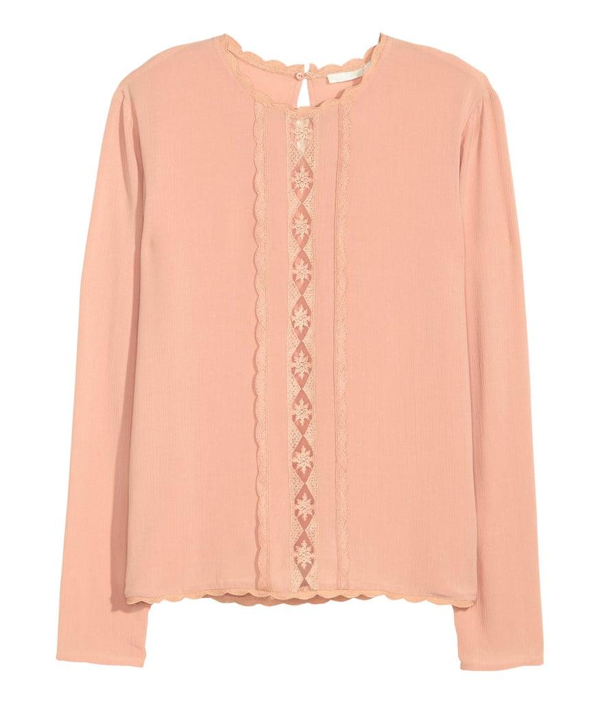 H&M Crinkled Blouse ($35)