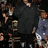 Tyga at the Off-White Paris Fashion Week Show