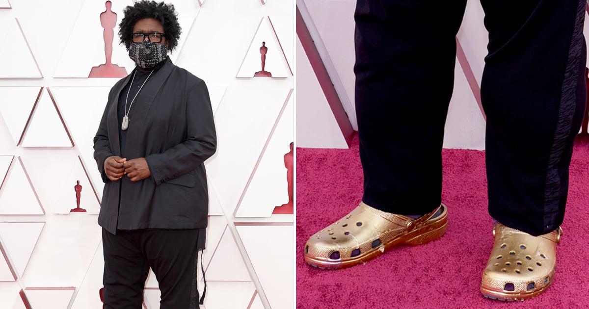 Questlove's Gold Crocs at the 2021 Oscars | Photos - P4World