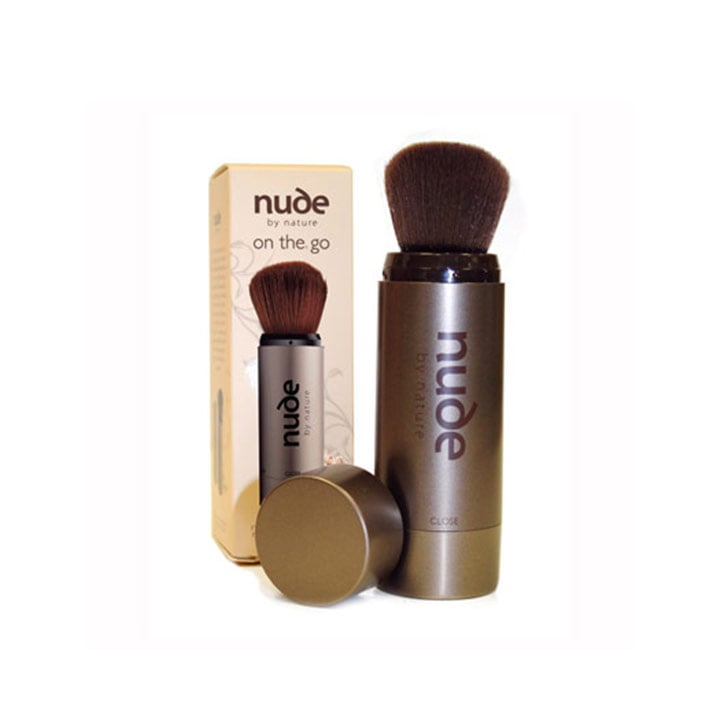 Nude by Nature Refillable Travel Brush, $19.95