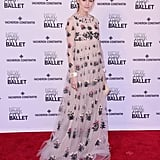 Wearing a fairytale-esque Valentino gown to the New York City Ballet Spring Gala in May 2015.