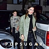 Gigi Hadid and Kendall Jenner at Carbone in NYC