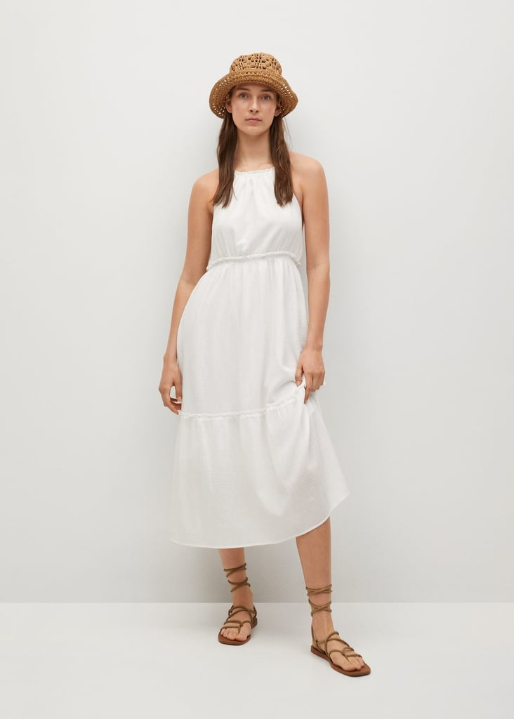 Mango Textured Cotton Dress