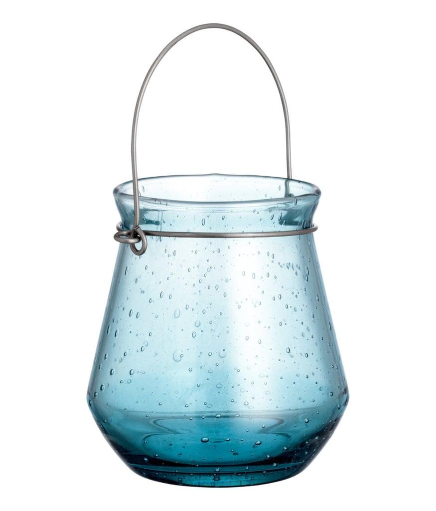 H&M Glass Candle Lantern